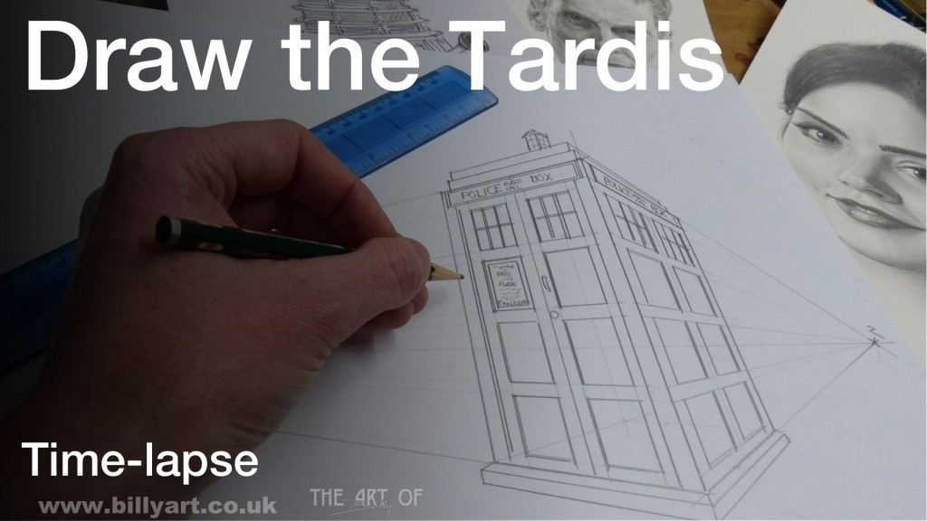 Drawing the Tardis using Two Point Perspective