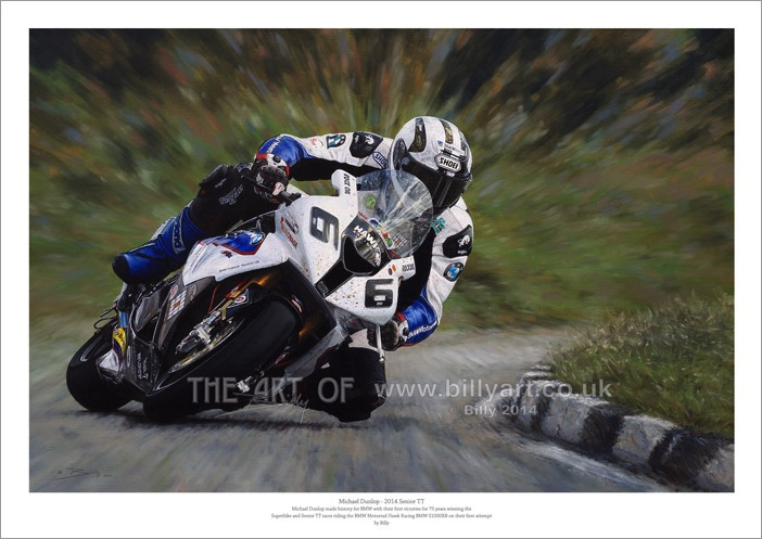Michael Dunlop BMW 2014 Isle of Man TT fine art print by Billy