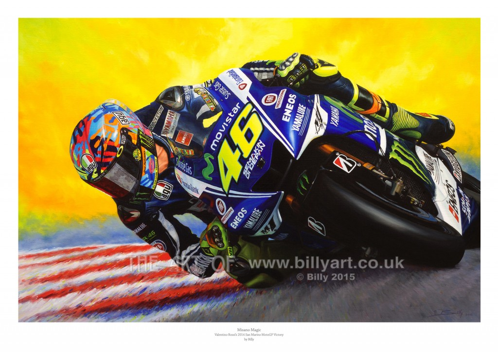 Valentino Rossi Misano Magic fine art print by Billy