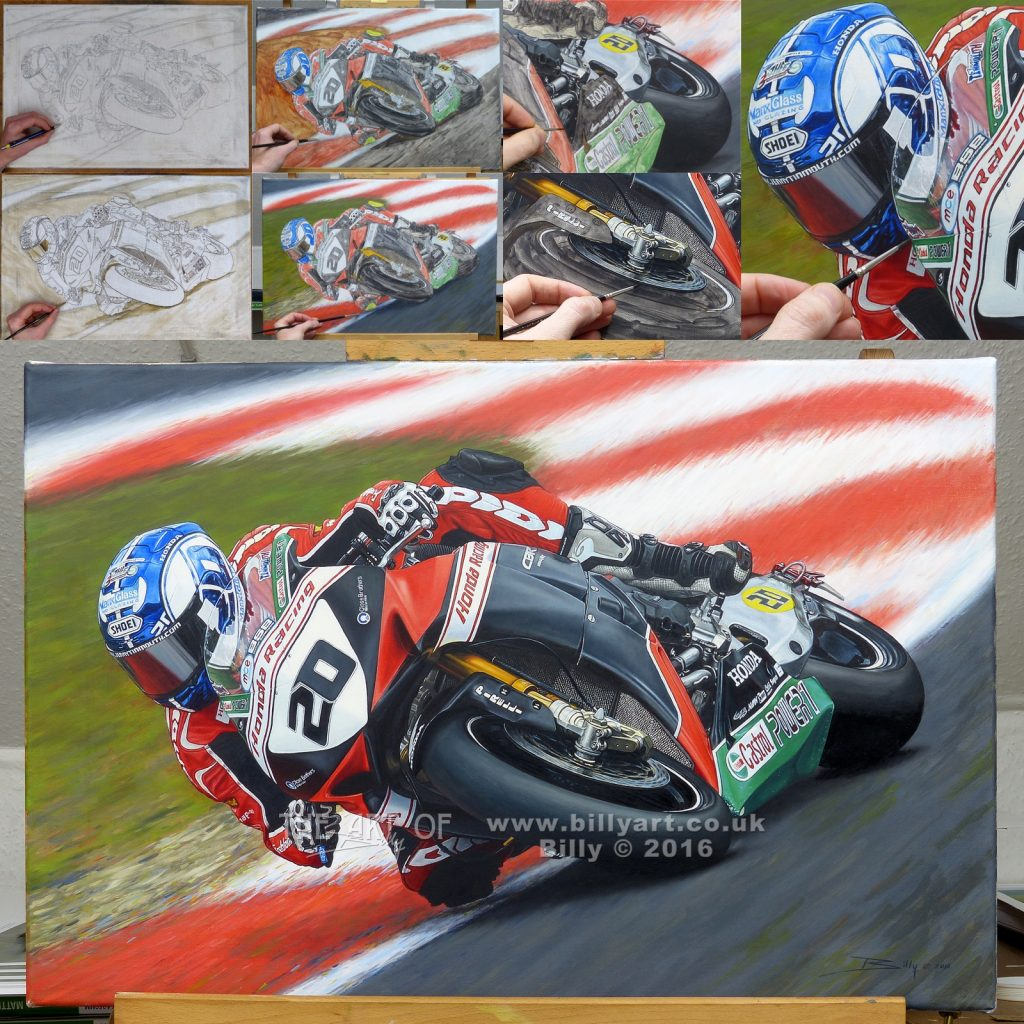 Jenny Tinmouth 2016 Honda BSB oil on linen canvas painting by Billy