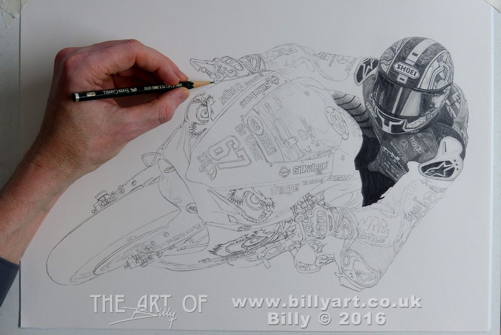 Shane Shakey Byrne 2016 BSB Champion drawing by Billy update 16-12-16